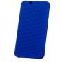 HTC One M8 Dot View case (Premium) grey retail blister  Blue