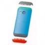 HTC One M8 Double Dip Hard Shell blue body, green top, grey bott